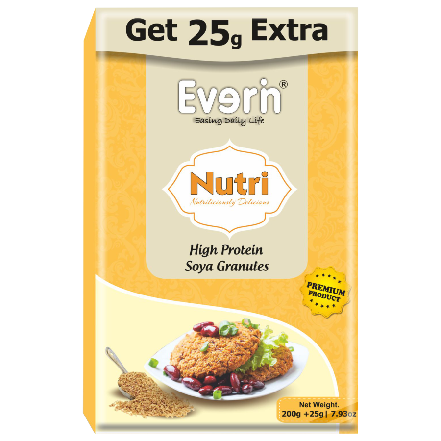 EVERIN NUTRI HIGH PROTEIN AND HEALTHY GLUTEN FREE SOYA GRANULES