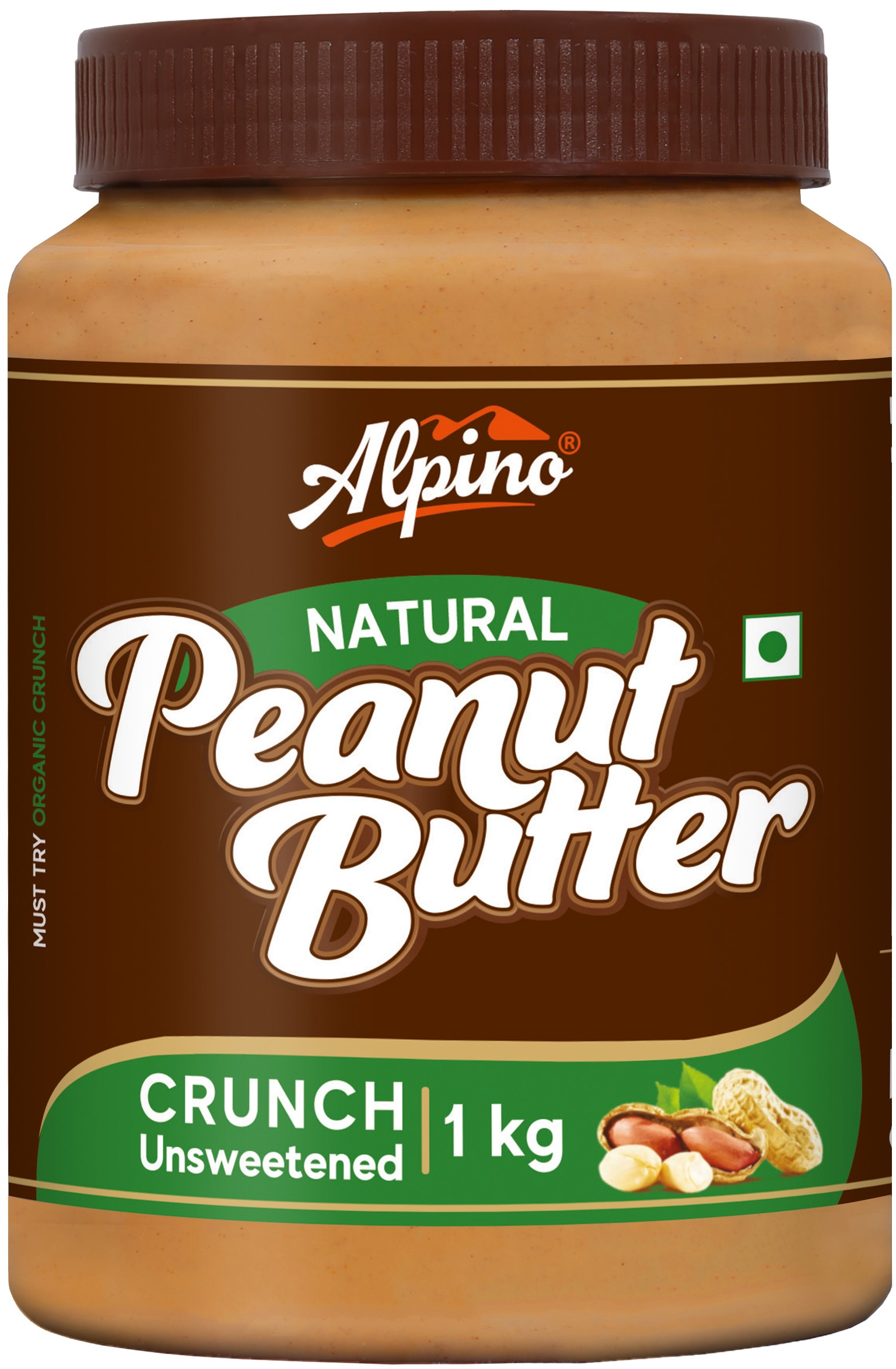 ALPINO NATURAL PEANUT BUTTER CRUNCH 1 KG (UNSWEETENED)
