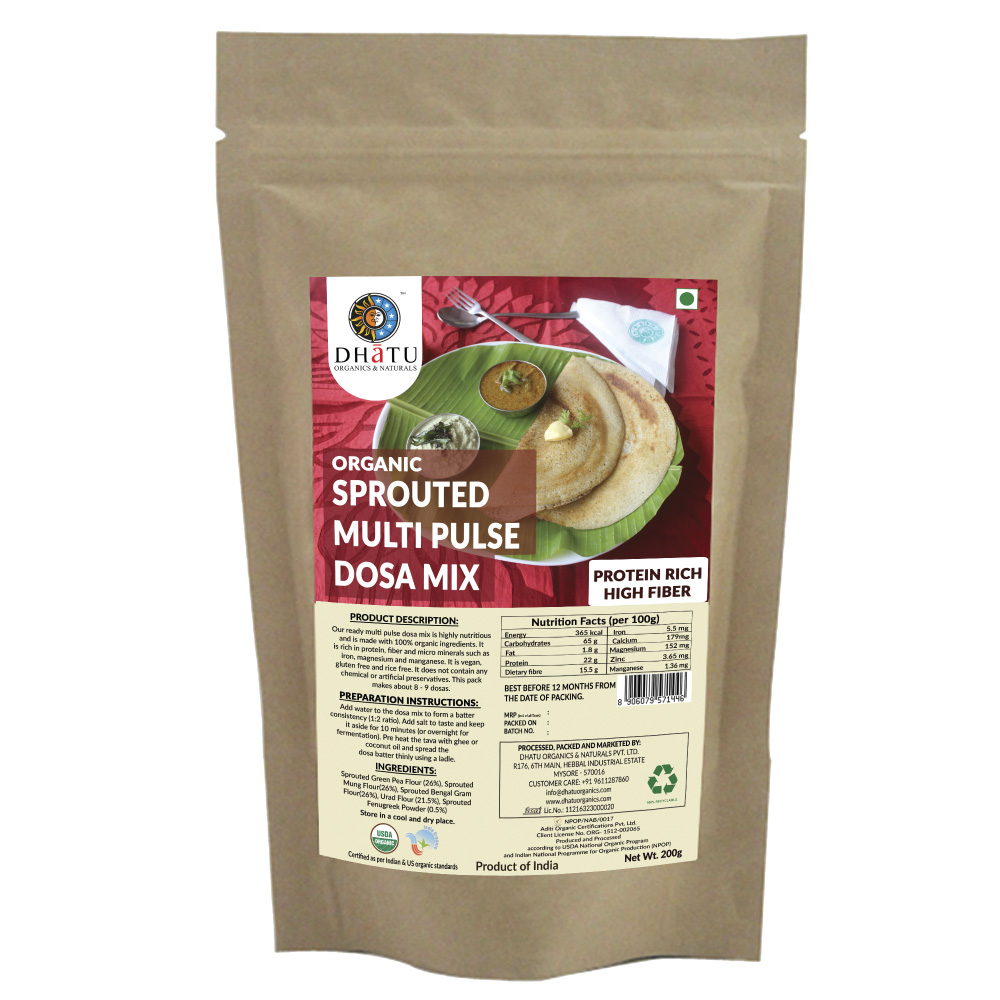 DHATU SPROUTED PULSE DOSA MIX
