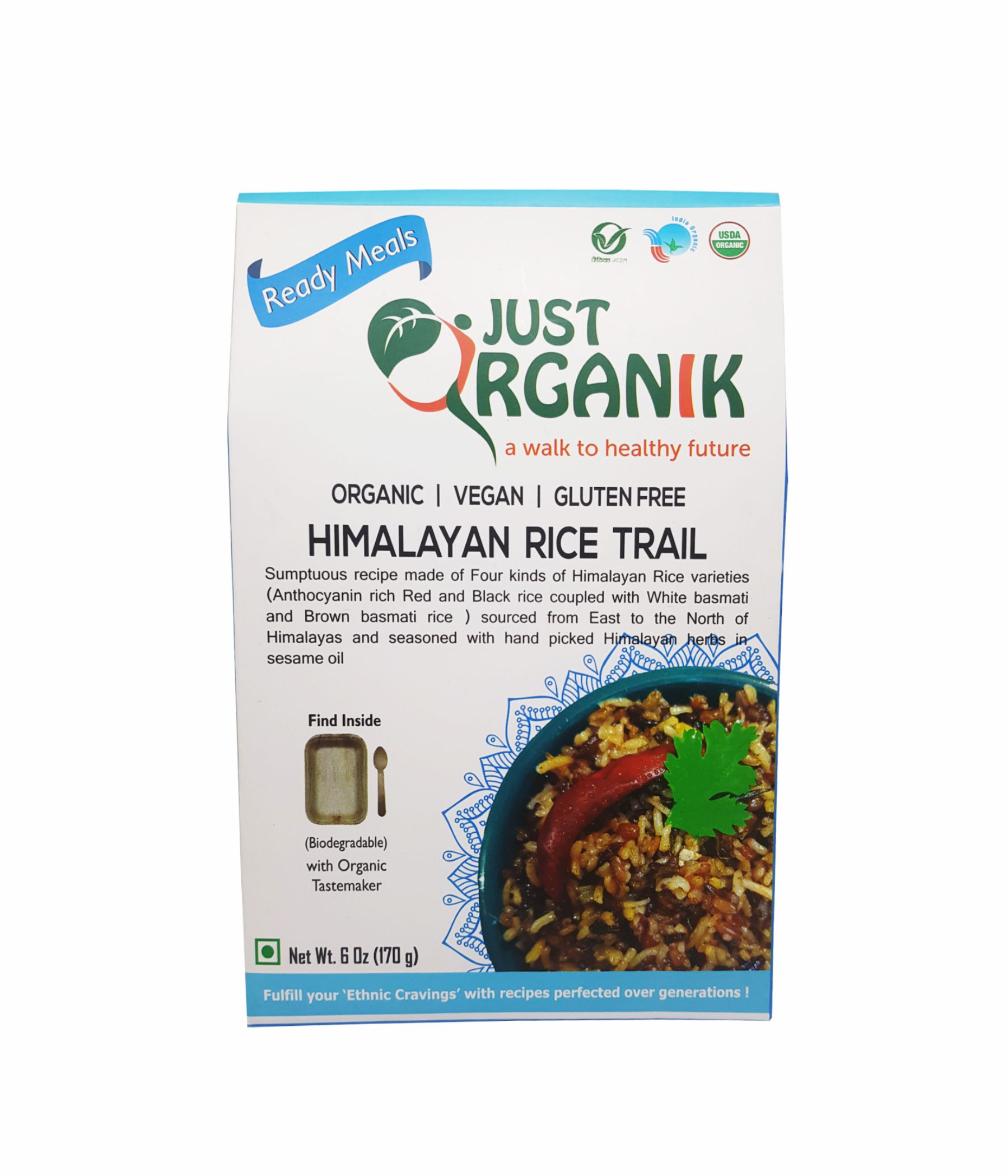 JUST ORGANIK READY TO EAT MEALS - HIMALAYAN RICE TRAIL